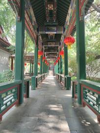 传统回廊园林