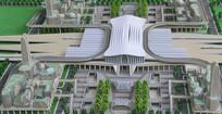 成都火车东站规划模型