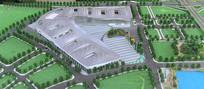 成都西部博览城规划模型