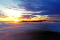 大兴安岭山峦云海日出风景