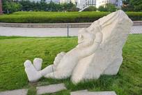龟兔赛跑雕塑-兔子