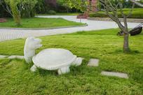 龟兔赛跑雕塑-乌龟
