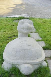 龟兔赛跑雕塑-乌龟快跑