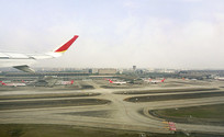 成都双流机场航空港航拍