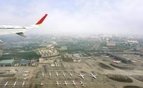 国际机场航空港航拍