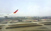 航拍成都双流机场航空港