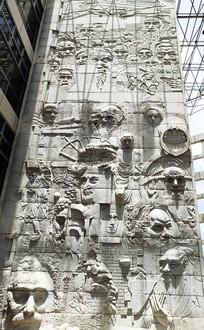 人物雕塑墙