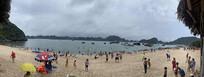 越南海防市吉婆岛沙滩全景