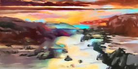 创意抽象意境油画