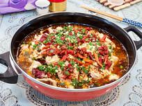美味菜品麻辣水煮肉片