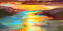 天空抽象画