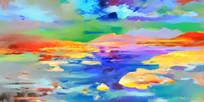绚丽多彩的抽象装饰画