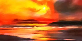 云彩风景画