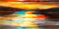 云彩自然风景油画