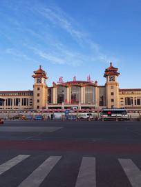 北京站火车站全景