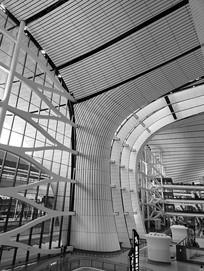 现代机场穹顶建筑