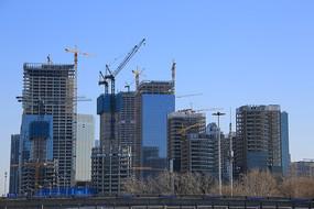 建设中的丽泽商务区建筑工地