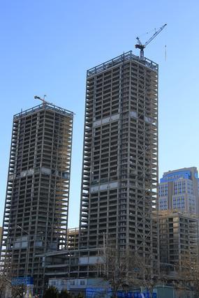 建筑工地摩天大楼