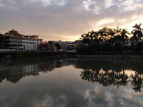 棉湖古镇夕阳美景
