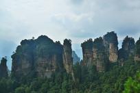 湖南张家界地质公园山峰