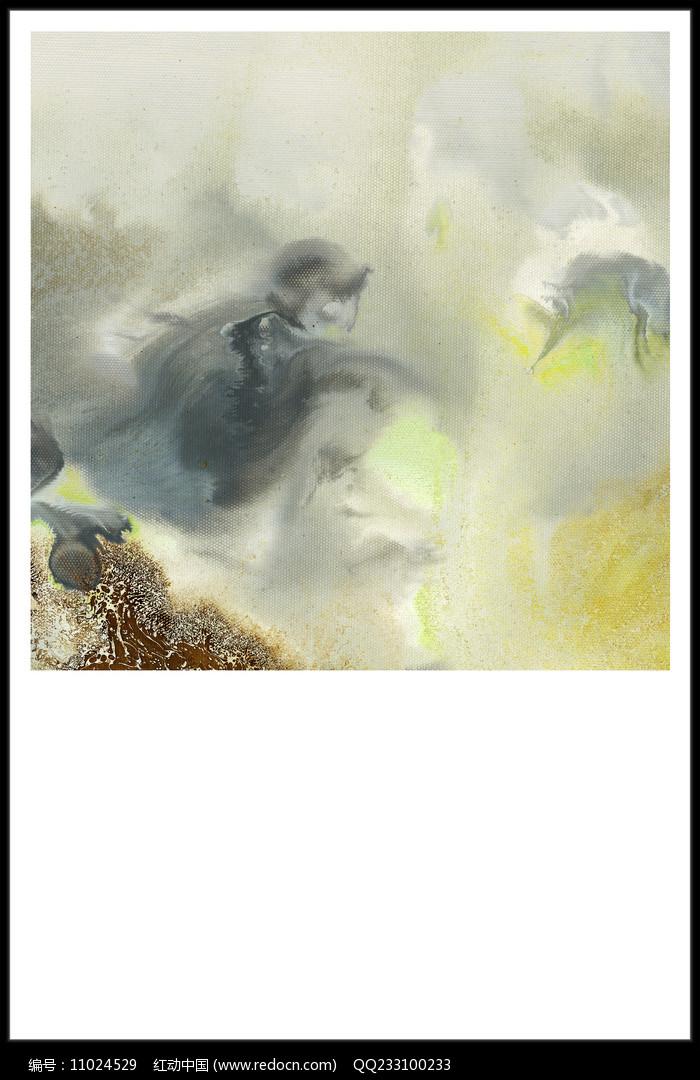 意境水墨壁画图片