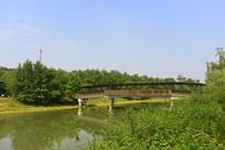 成都西来古镇临溪河-来安廊桥