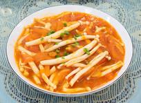 美味菜品西红柿炒海鲜菇