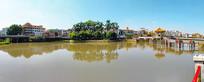 棉湖雲湖风景全景图