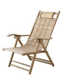 一把休闲躺椅白背景图片