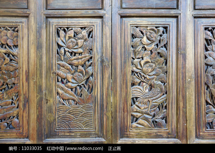 中式隔断传统图案雕花装饰图片