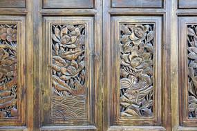 中式隔断传统图案雕花装饰