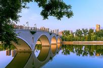 城市江河桥梁风光