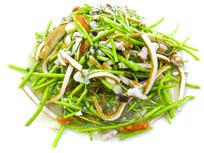 南京金陵菜名菜-芦蒿炒香干