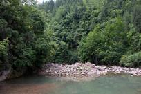 重庆巫山骡坪龙潭溪优美的绿色环境