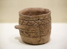 篦点纹陶杯陶器青铜时代