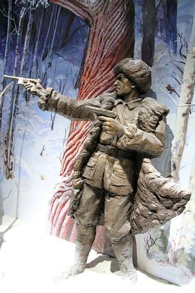 林海雪原东北抗日英雄雕像