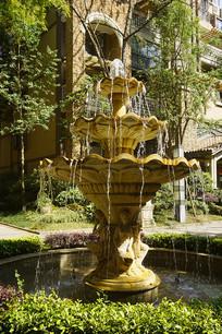 欧式中庭水景园林喷泉天使雕塑