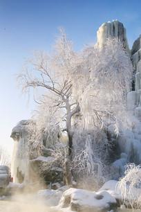 雾凇树雪乡