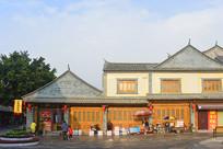 云南建水古城-夕阳中的古城街道