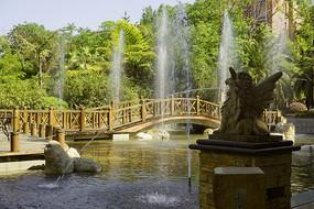 住宅楼盘中庭喷泉水景园林