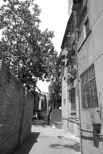 老成都建筑-老街老巷黑白照片