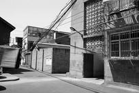 老成都建筑-老巷黑白照片
