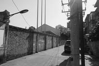 老成都龙泉驿建筑黑白照片