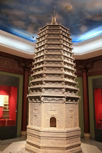 辽代砖塔模型