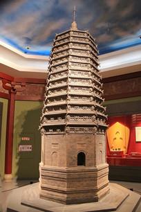 农安辽塔辽代砖塔模型