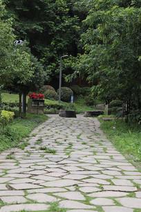 石板铺的小路