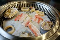 中式自助铁锅烧烤及菜品