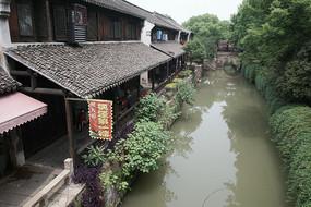 枫泾古镇一角