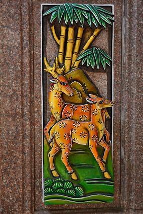 梅花鹿雕塑石雕