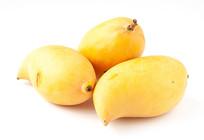 白背景上的芒果